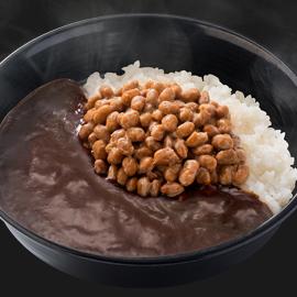 納豆黒カレー