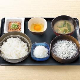 納豆しらす定食