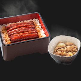 鰻重牛小鉢セット
