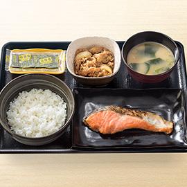 焼魚牛小鉢定食
