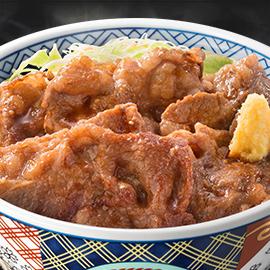 牛カルビ生姜丼