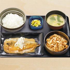牛鯖󠄀みそ定食