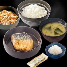 塩鯖牛小鉢定食