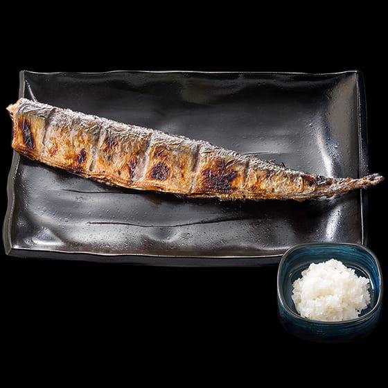 さんま炭火焼き(単品)