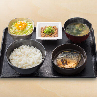 塩鯖󠄀納豆定食