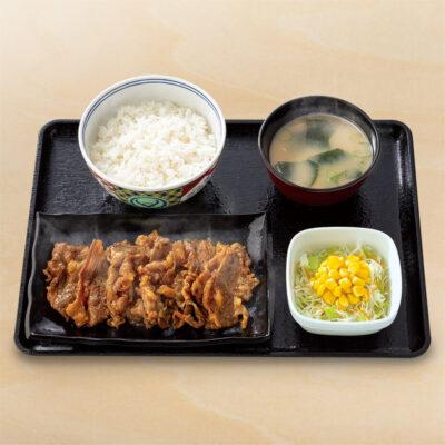 牛カルビ生姜焼き定食
