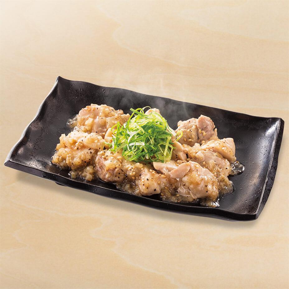 ねぎ塩鶏皿