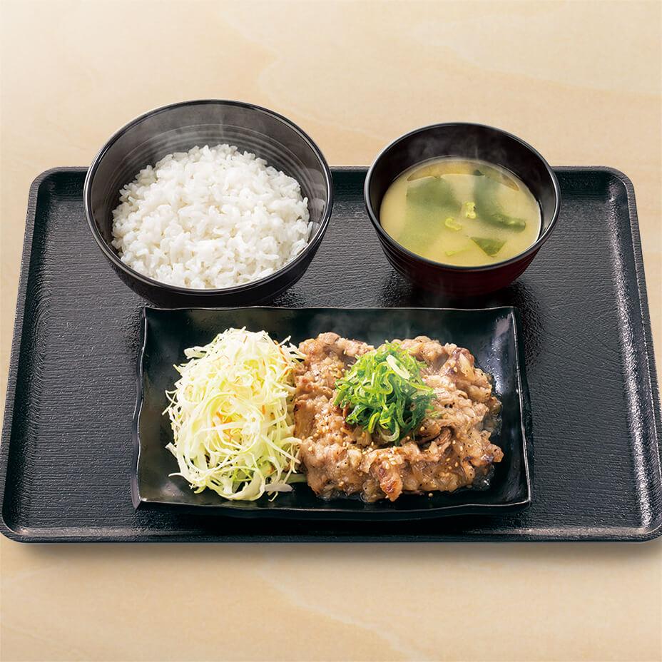 ねぎ塩牛カルビ定食