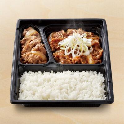 W弁当(牛皿・牛焼肉)