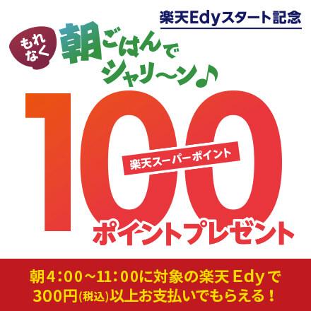 Edyでシャリ~ン♪と決済でもれなく100ポイントプレゼントキャンペーン