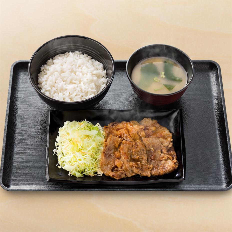 牛カルビ生姜定食