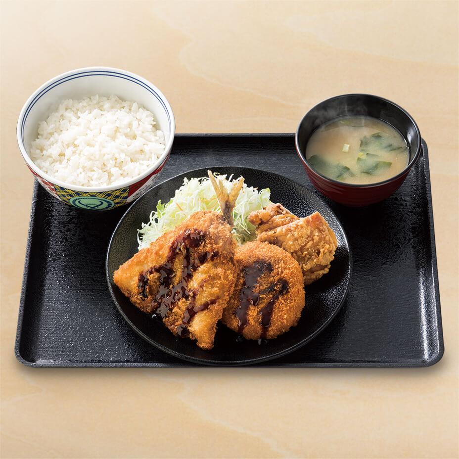 ミックス牛肉コロッケ定食