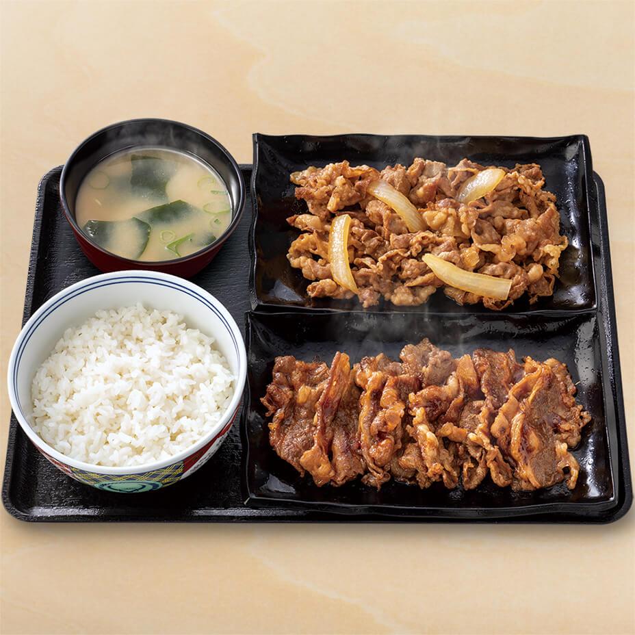 牛皿・牛カルビ生姜定食