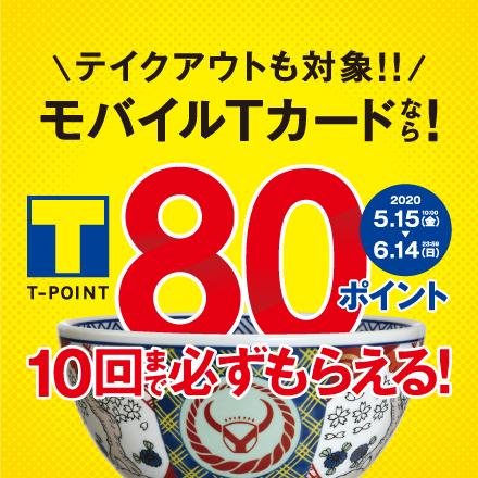 【5月15日~6月14日】モバイルTカードで80Pもらえる!