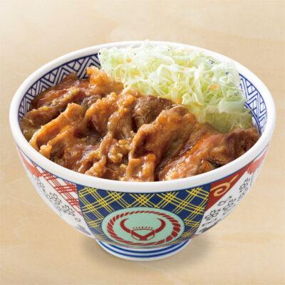 牛カルビ生姜焼き丼