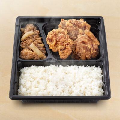 W弁当(牛皿・から揚げ)