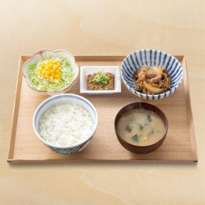 納豆牛小鉢定食