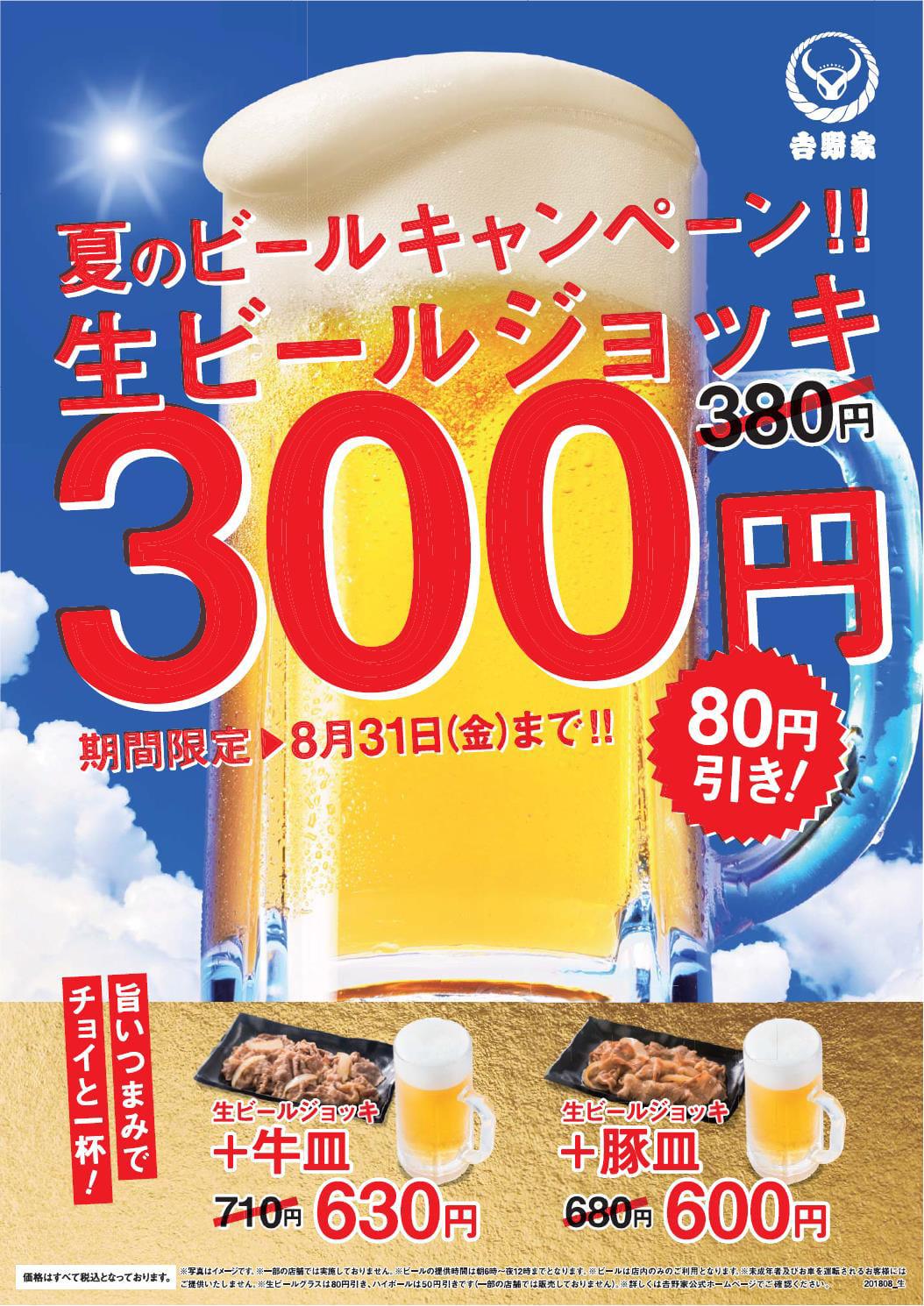 夏のビールキャンペーン